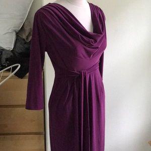 Ellen Tracy Purple Midi Dress